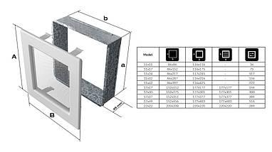 Вентиляционная решетка для камина KRATKI Oskar 22х22 см белая, фото 3
