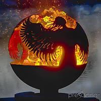 Очаг-шар металлический Два ангела (диаметр 50см)