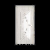 Межкомнатная дверь Неман Фантазия остеклённая 800 мм белая береза