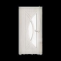 Межкомнатная дверь Неман Фантазия остеклённая 900 мм белая береза