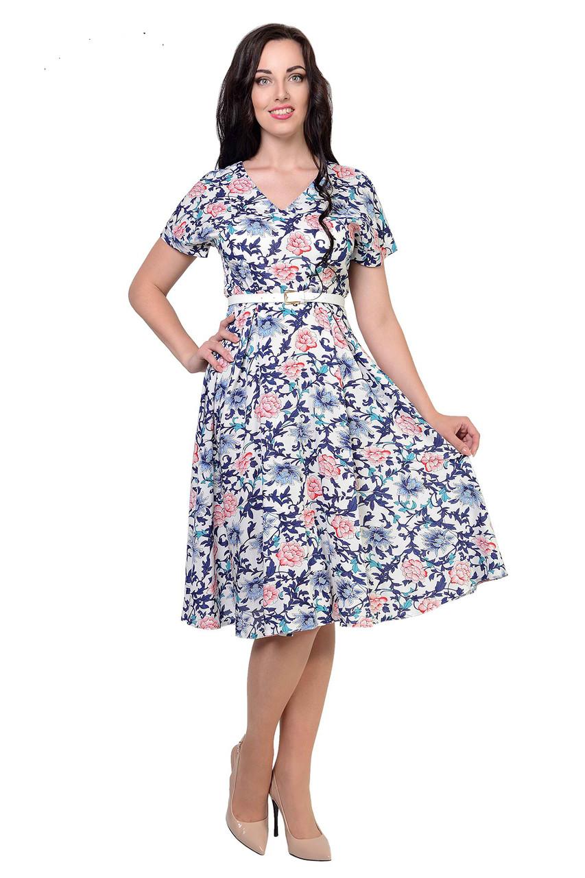 Летнее штапельное платье Флоренс