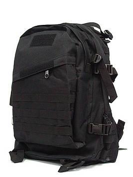 Тактический рюкзак черного цвета на 30 литров