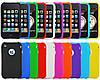 Чехол Iphone 3 силиконовый голубой и фиолетовый цвет, фото 2