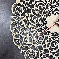 Винтажные ажурные деревянные часы настенные бесшумные