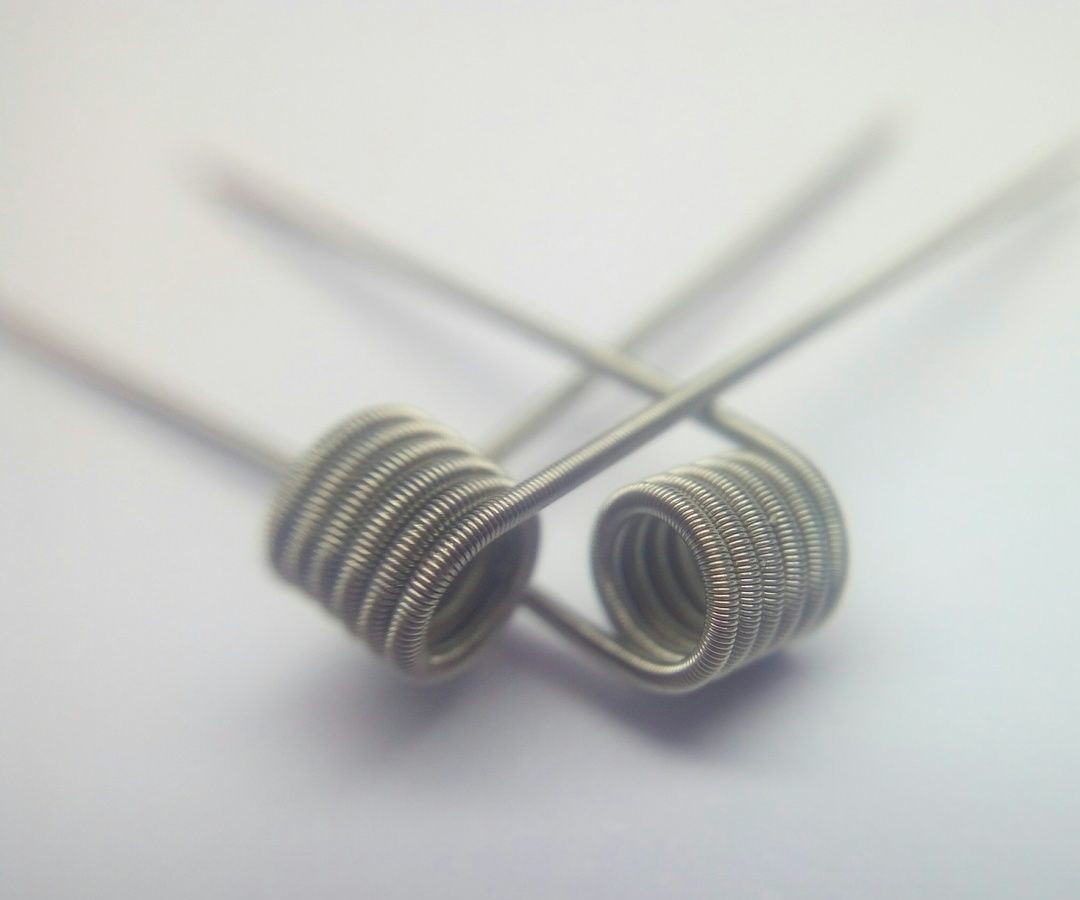 Clapton койл (спираль) 0,8 ом для электронных сигарет 2шт