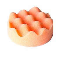 Круг полировальный волнистый оранжевый на липучке 80*25 мм Китай