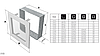 Вентиляционная решетка для камина KRATKI 22х37 см никелированная с жалюзи, фото 5