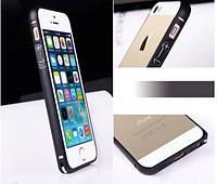 Чехол бампер iPhone 5/5s алюминевый металлический на защелке черный Metal Aluminum Frame Bumper