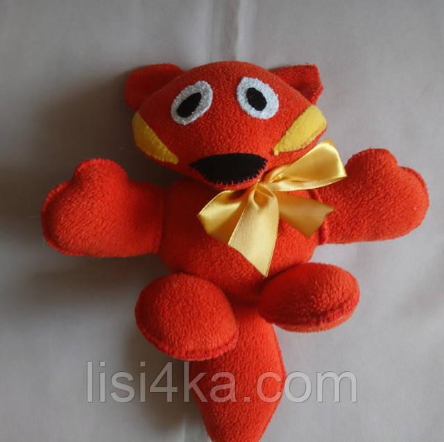 Интерьерная текстильная игрушка ручной работы в виде лисы