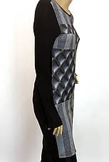Трикотажна жіноча туніка плаття з геометричним принтом, фото 3
