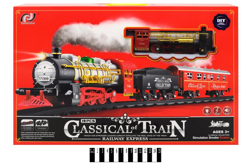 Детская железная дорога V8036, свет, звук.