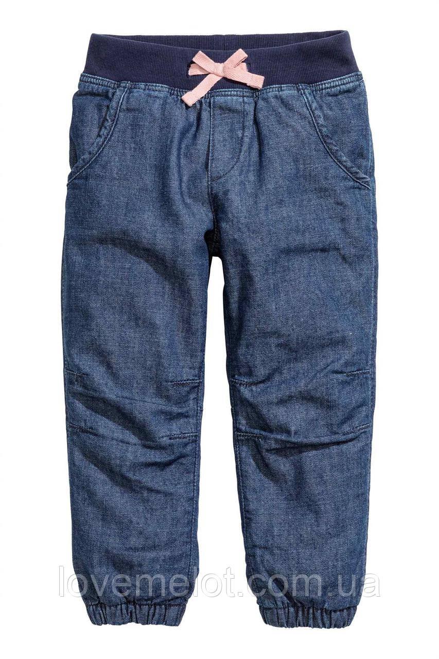 """Детские джинсы на подкладке H&M """"Маргарита"""" для девочки, размер 134 см"""