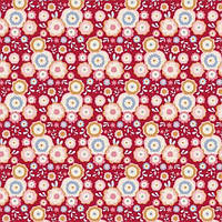 Ткань для рукоделия Tilda Candyflower Red, 481130