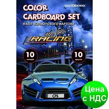 """Набор цветного картону А4, 10 листов, """"CFS"""" CF05281-02"""