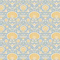 Отрез ткани последний Tilda Garden Bees Blue 50х55см, 481319
