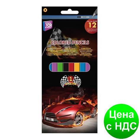 """Карандаши цветные """"Racing"""", 12 цветов CF15149, фото 2"""