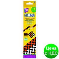 """Карандаш графитный с цветной резинкой, """"Chess"""" CF15153"""