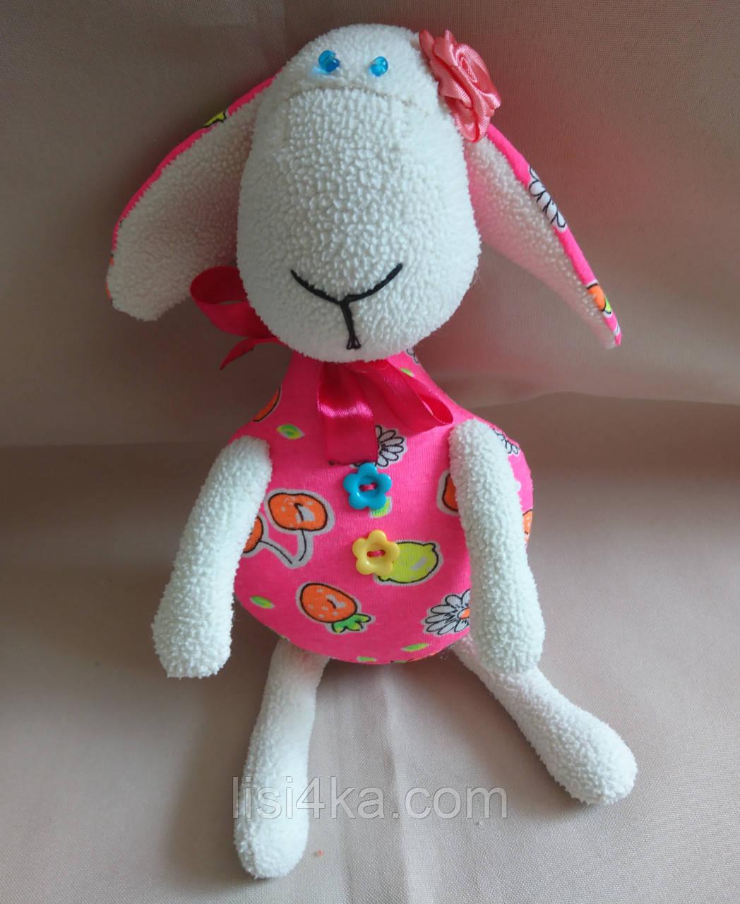 """Текстильная интерьерная игрушка """"Яркая овечка1"""""""