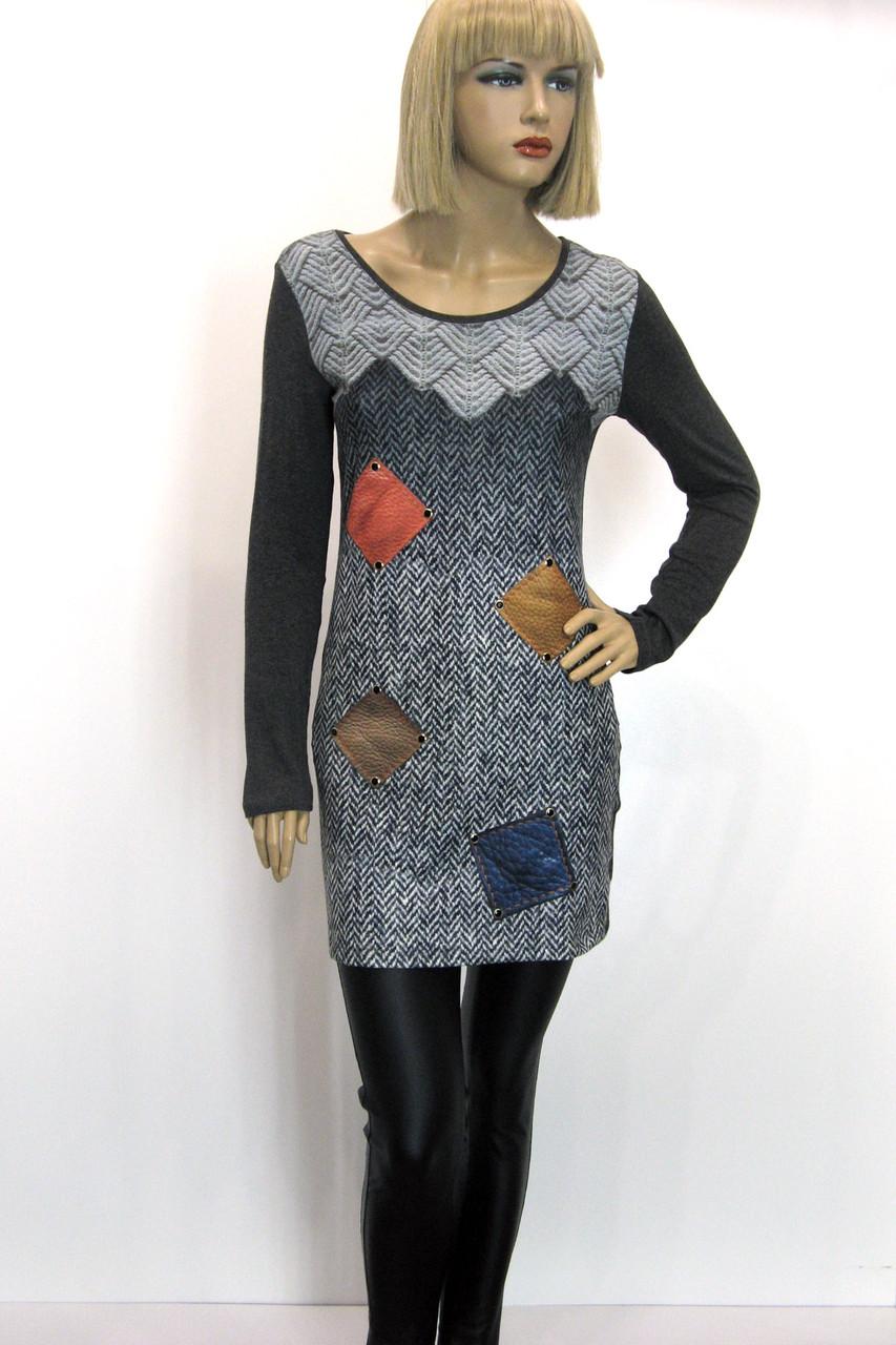 жіноча туніка плаття з геометричним принтом