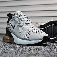 Мужские кроссовки Nike Air Max 270 Silver Dark Bordo (реплика)