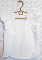 """Блузка школьная нарядная с гипюром на девочку 140-152 см Серии """"SOFIA"""" купить оптом в Одессе на 7км"""