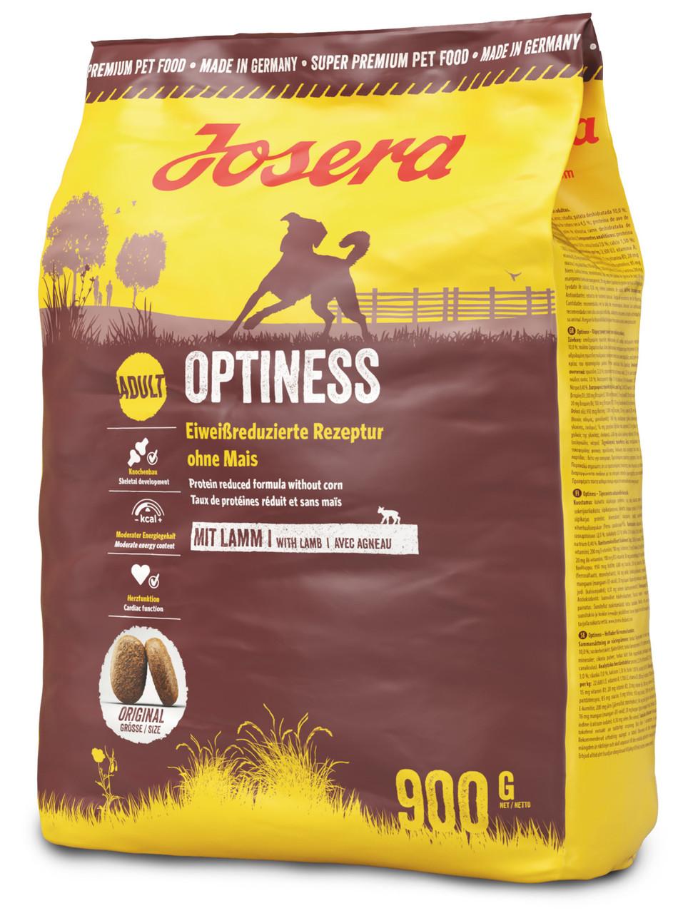 b9f053124243f9 Йозера Оптинес Josera Optiness корм для взрослых собак без кукурузы с  ягненком 900 г