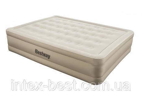 Надувная кровать Bestway 69011 Essence Fortech 203х152х43см, встроенный электронасос, фото 2