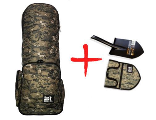 Рюкзак для металлоискателя (пиксель) + чехол для лопаты