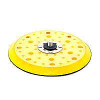 Платформа для шлифовальных машин желтая d150 мм 52 отверстия 10 мм