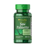 Бустер тестостерона Puritan's Pride - Saw Palmetto 450 мг (100 капсул)