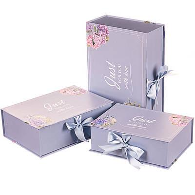 """Набор коробок """"Только тебе, с любовью"""" (серый цвет) 3шт."""