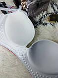 Нижнее бельё бюстгальтеры 6 s 1 чашка A размер 100-80 красивый кружевной жёлтый-розовый-серый, фото 5