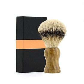Помазок для гоління з ручкою з сандалового дерева (світлий) NR0028