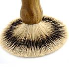 Помазок для бритья с ручкой из сандалового дерева (светлый) NR0028, фото 4