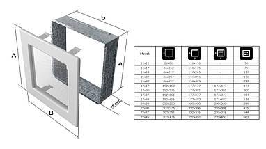 Вентиляционная решетка для камина KRATKI Venus 17х17 см белая, фото 3