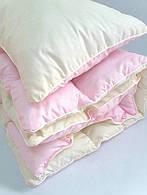 Комплект детский одеяло и подушка розовый