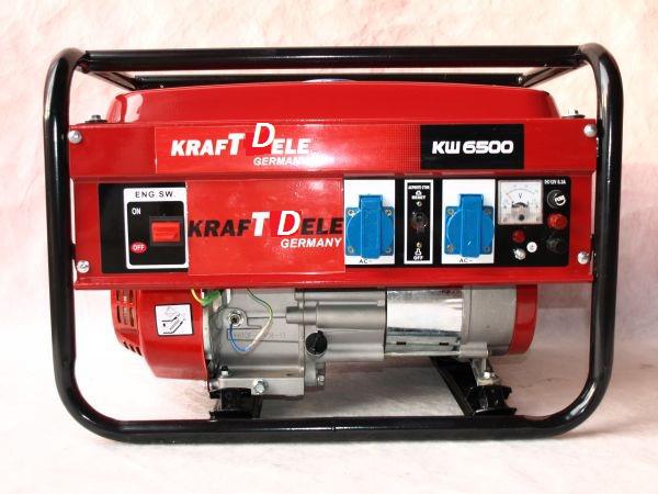 Генератор KraftWele 3,5 кВт GERMANY однофазный бензиновый