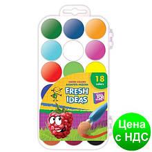 Краски акварельные медовые 18 цветов Fresh Idea (акварель медовая) CF60135