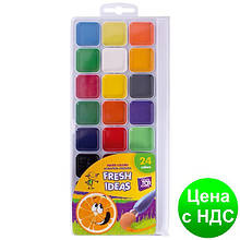 Краски акварельные медовые 24 цвета Fresh Idea (акварель медовая) CF60136