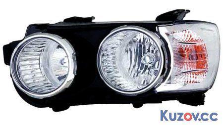 Фара Chevrolet Aveo T300 (12-16) хром окуляры, с корректором, правая (Depo) 96831092