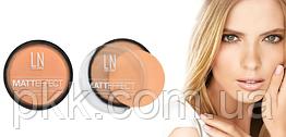 Пудра для лица LN Professional MATT EFFECT матирующая 102 (medium beige)