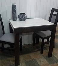 Стол обеденный Слайдер Венге/ АЛЯСКА, 81,5(+81,5)*67см
