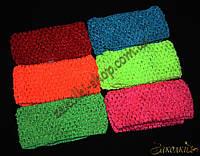 Повязка для волос сеточка ассорти, часто используется как фурнитура, ширина: 6.5 см, 12 штук в упаковке
