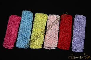 Пов'язка для волосся сіточка асорті, часто використовується як фурнітура, ширина: 4 см, 12 штук в упаковці