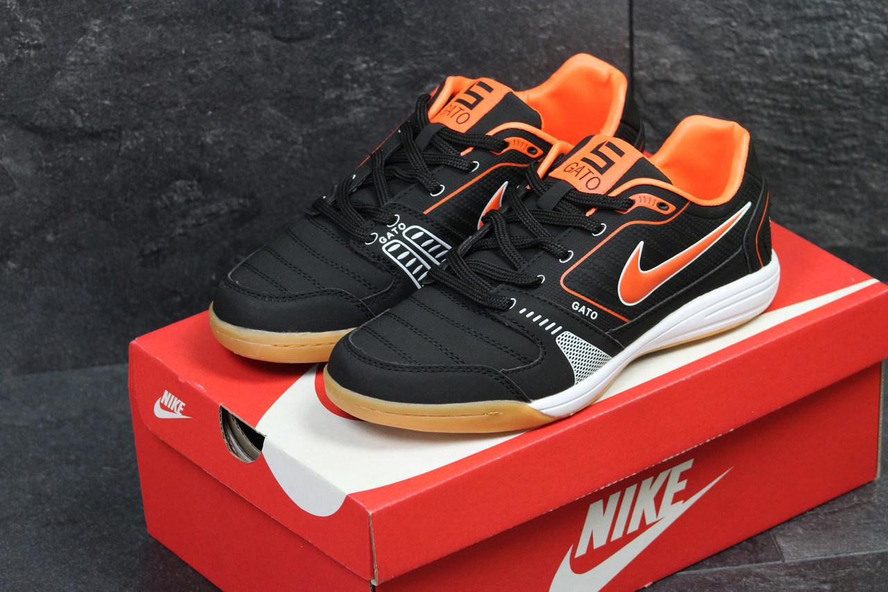 Кросівки чоловічі Nike Gato шкіряні спортивні зручні весна-осінь 43 розмір (чорні), ТОП-репліка