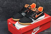 Кросівки чоловічі Nike Gato шкіряні спортивні зручні весна-осінь 43 розмір (чорні), ТОП-репліка, фото 1