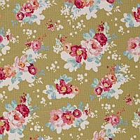 Ткань для рукоделия Tilda Flowercloud Olive, 481242