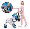 Сумка для детских принадлежностей Qibaby синяя + пеленальний матрасик и термоорганайзер, фото 9