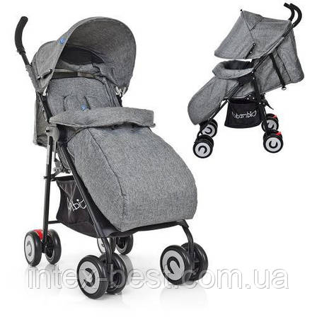 Прогулочная коляска Bambi M 3458-2-11 Серый, фото 2