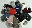 Комплект шапка с бубоном и хомут зимний м 6068, разные цвета, фото 5